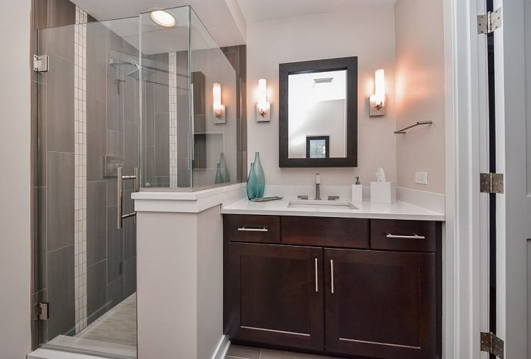 Shower In Small Bathroom