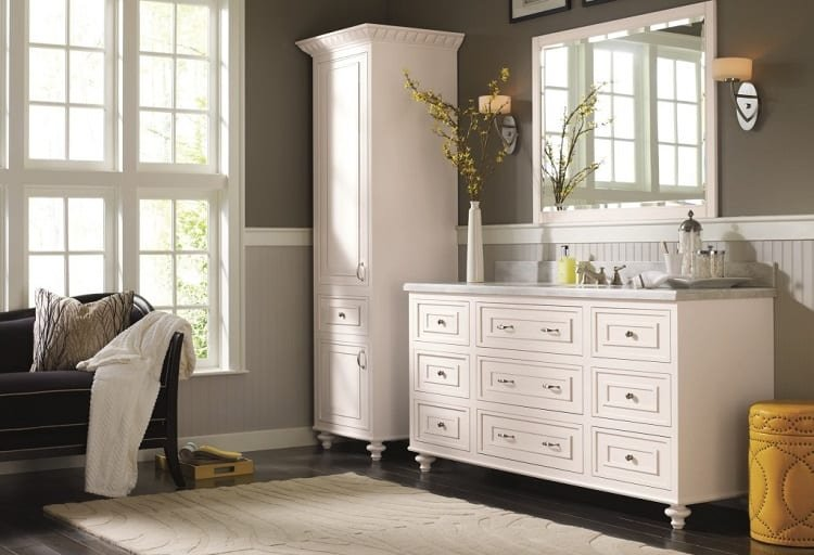 White Two Part Cabinet
