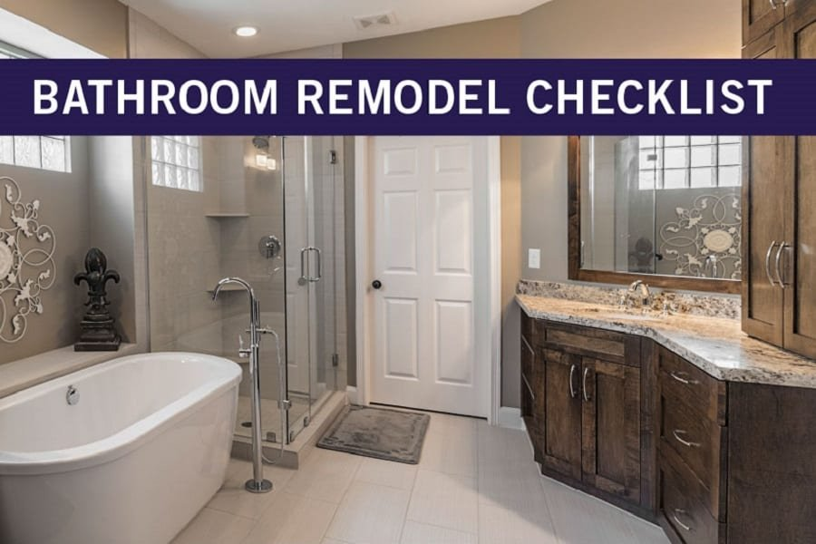 Bathroom Remodeling Checklist: A Step By Step Guide