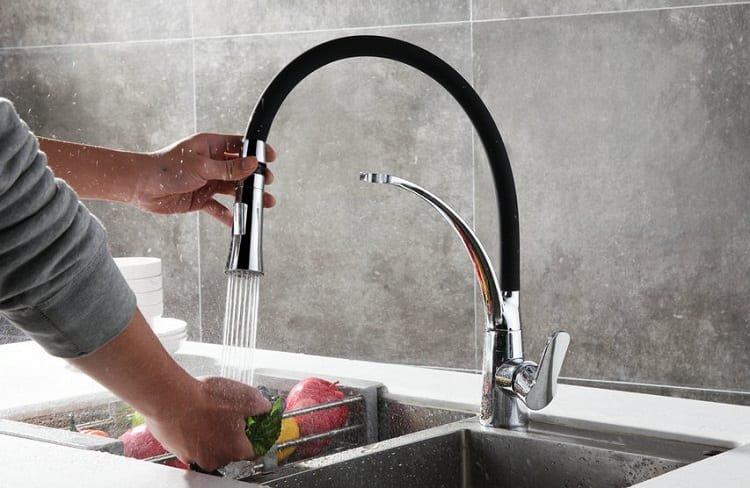 Washing Fruit With Faucet