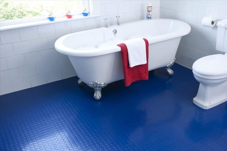 Blue Rubber Bathroom Tiles