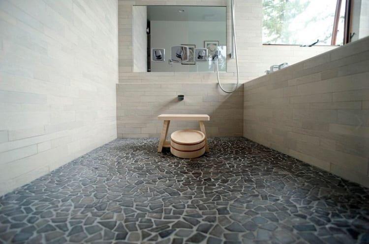 Bathroom Pebble Tiles Flooring
