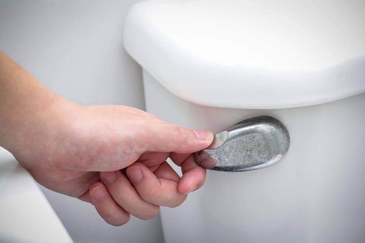 Pulling Toilet Flush Handle