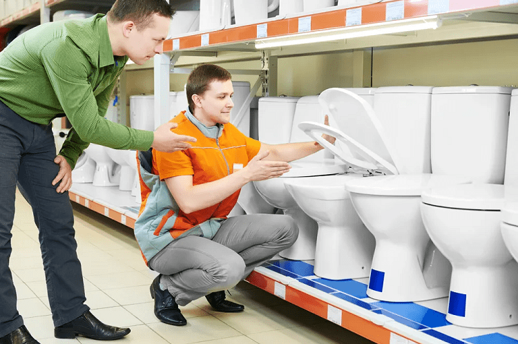 Man Choosing Toilet