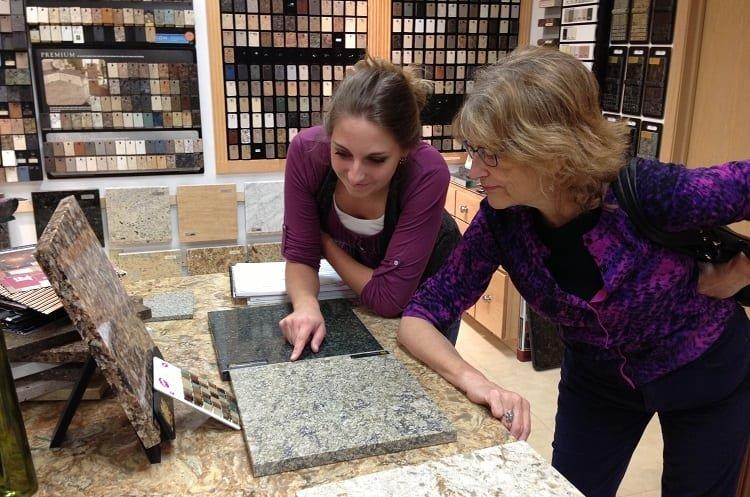 Two Women Choosing Tiles