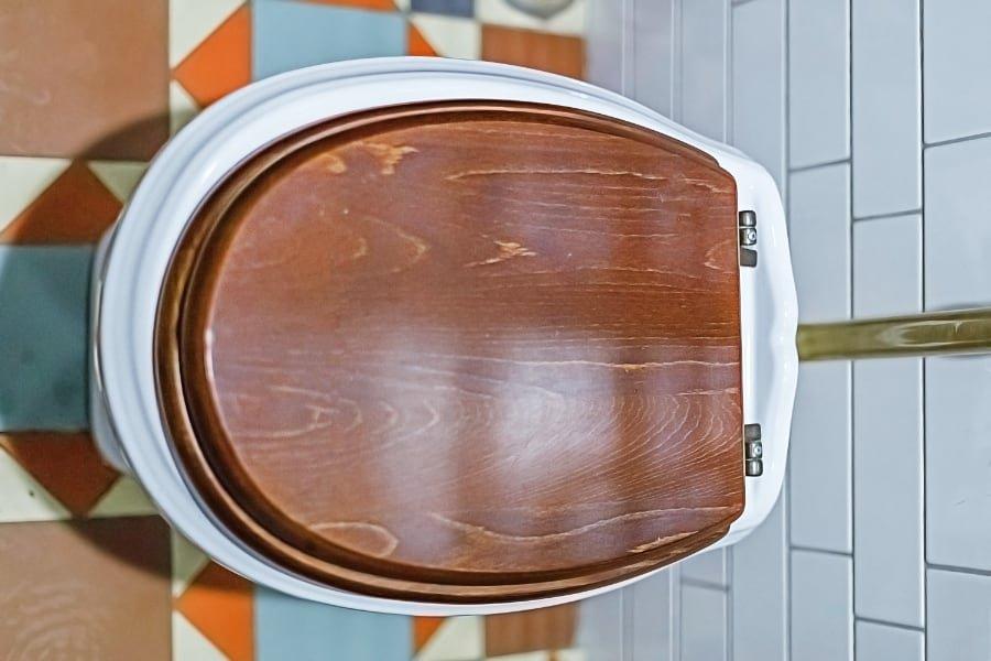 wood toilet seat